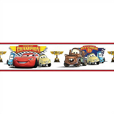 DISNEY CARS WALLPAPER BORDER peel & stick Lightning McQueen Mater room decor