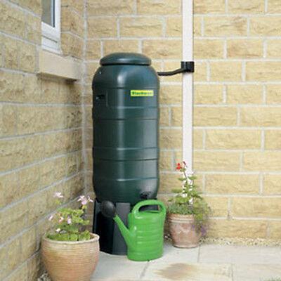 100L Mini Space Saving Green Garden Water Butt Kit w/ Stand, Lid, Diverter & Tap