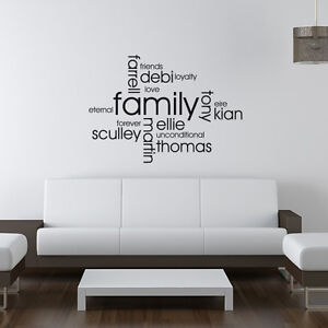 Design Your Own Personalised Family Wall Art Quote Wall