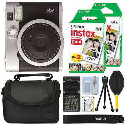 Fujifilm INSTAX Mini 90 Neo Classic Fuji Instant Camera Black + 40 Film Bundle