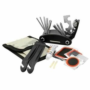 30 Piece Bicycle & Puncture Repair Kit Bike Patches Tyre Levers Spanners