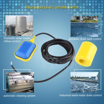 Float Switch Liquid Fluid Water Tank Level Controller Sensor Apparatus 0-220v