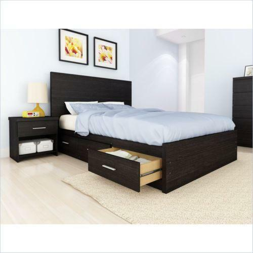 Queen Storage Bed Set Ebay