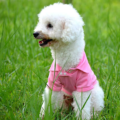 Pet Puppy Polo Shirt Small Dog Cat Pet Clothes Costume Apparel T-Shirt Noted
