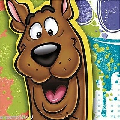 Paint Splatter Party Supplies (SCOOBY DOO Paint Splatter SMALL NAPKINS (16) ~ Birthday Party Supplies)