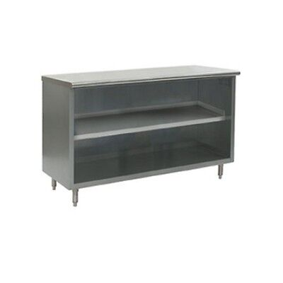 New Commerical Grade 14 X 36 Stainless Steel Storage Dish Cabinet - Open Front