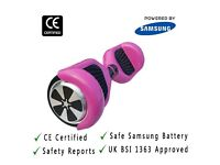 Official UK Safe and CE Certified Swegway Self Balancing Scooter-Hot Pink