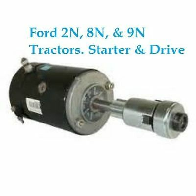 Starter And Drive Combo For Ford Tractor Farm 28hp 30hp And Lester 3109 2n 8n 9n
