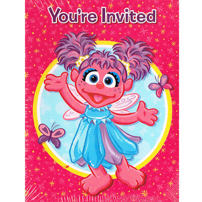 ABBY CADABBY INVITES and THANK YOU NOTES ~ Birthday Party Supplies Stationery (Abby Cadabby Invitations)