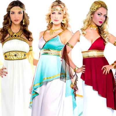Ancient Greek Goddess Ladies Fancy Dress Roman Toga History Womens Adult Costume](Ancient Greek Costumes)
