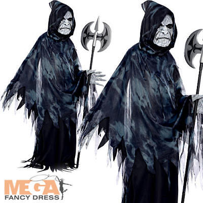 Soul Taker Ghoul Boys Fancy Dress Grim Reaper Skeleton Kids Halloween Costume  (Soul Taker Kids Costume)
