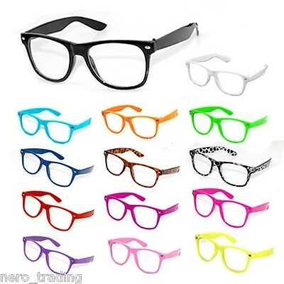 Fancy Dress Glasses Clear Lens Nerd Geek Party Retro Vintage Sunglasses uk