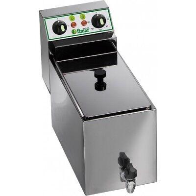 Friggitrice professionale elettrica da banco ristoranti cucina 8 L con rubinetto usato  Arcene
