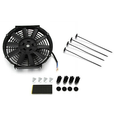 10inch 12V Universal Straight Blade Electric Radiator Cooling Fan Push Pull Kit