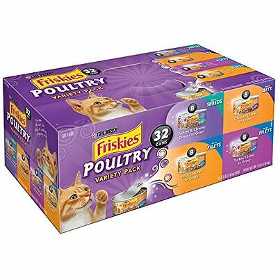 Friskies Wet Cat Food  Poultry  4 Flavor Variety Pack  5 5 Ounce Can  Pack Of 32