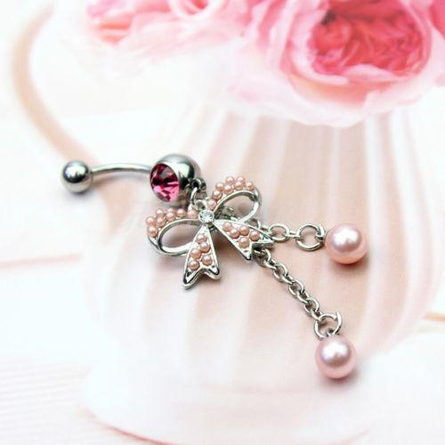 Dangle Belly Button Rings Titanium