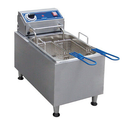 Globe Pf16e Countertop Fryer - Electric 16 Lb. Oil Capacity