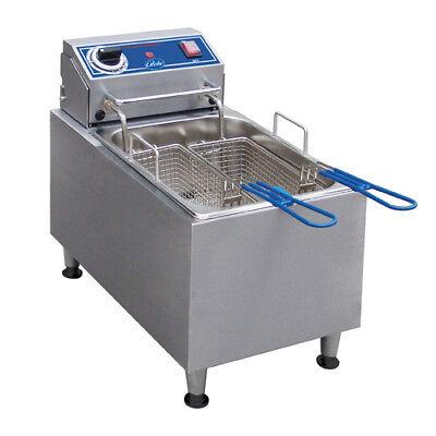 Globe Pf16e Countertop Fryer - Electric 16 Lb. Oil Capacity