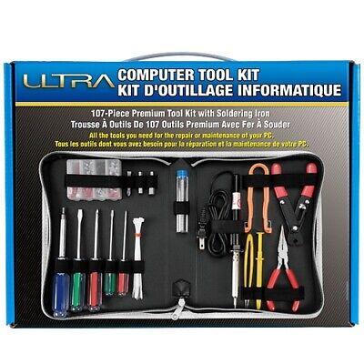 New Ultra 107 Piece Premium Tool Kit W Soldering Iron Ult31346