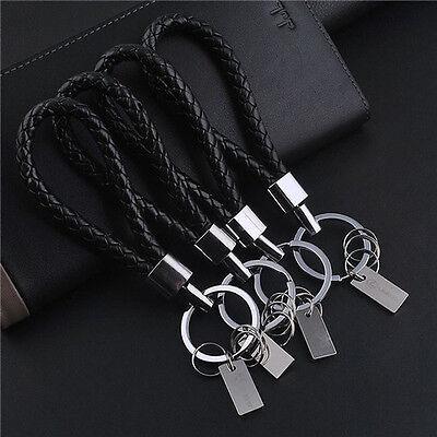 New Fashion Men Leather Key Chain Ring Keyfob Car Keyring Keychain Gift