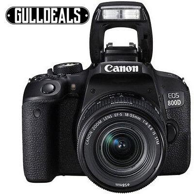 Canon EOS 800D 24.2MP Digital SLR Camera Black Kit w/ EF-S 18-55mm UK DISPATCH