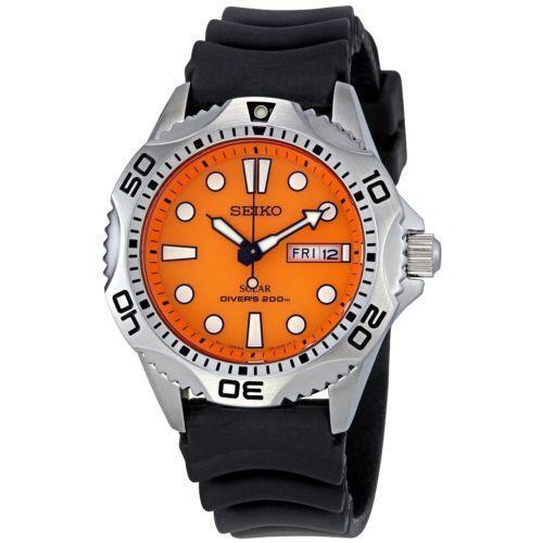 Seiko orange dial watches ebay - Orange dive watch ...