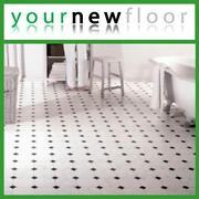 White Lino Flooring