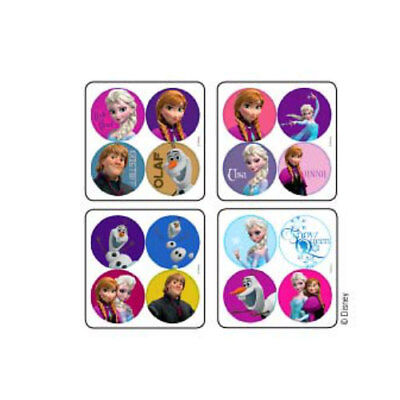 100 Frozen MiniBadges STICKERS Party Favors Birthday Loot Treat Bags Elsa Olaf  (Frozen Olaf Party Favors)