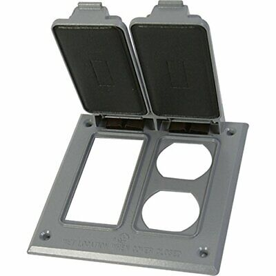 Greenfield Cgfidr2ps Series Weatherproof Electrical Outlet Box Cover Gray