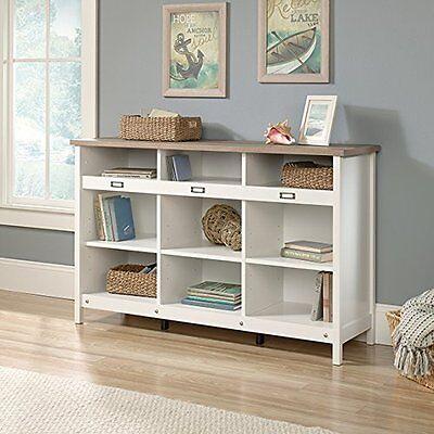 بوفيه جديد Sauder Adept Storage Credenza 417653 Soft White NEW