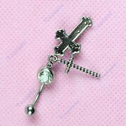 Cross Belly Ring