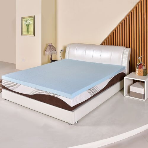 "3/"" Gel Antimicrobial Memory Foam Mattress Topper Bed Pad Cool Ventilated Sleep"