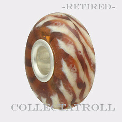 - Authentic Trollbeads Silver Clear Brown Braid *RETIRED*  61148  TGLBE-10278