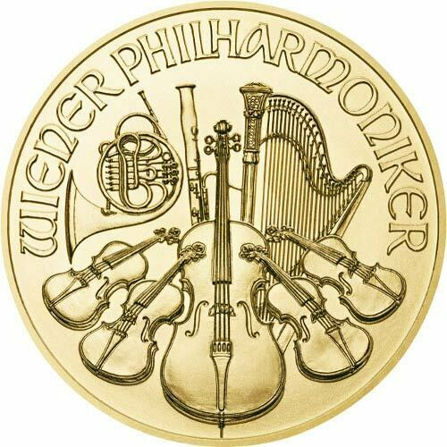 1 oz Austrian Gold Philharmonic Coin (Varied Year)
