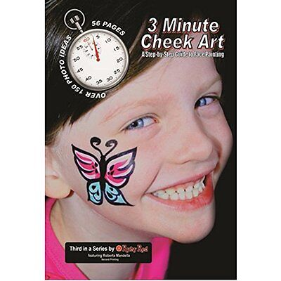 How To Face Paint Book, 3 Minute Cheek Art - FREE Shipping USA seller