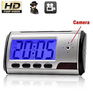 ▼ Camera Clock Motion Detector Reveil Recorder Securite Security