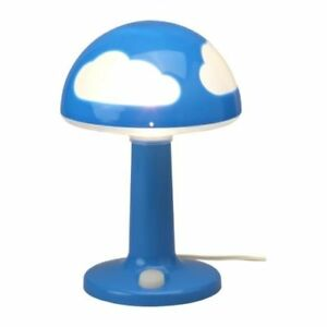 Ikea Children's Skojig lamp and ceiling fixture blue and white
