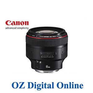 Canon EF 85mm f/1.2L II USM Lens 85 1.2 + 1 Year Au Wty