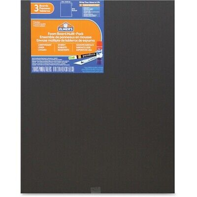 Elmers 3-pack Black Foam Boards - 16 X 20 - 3 Pack - Black - Foam