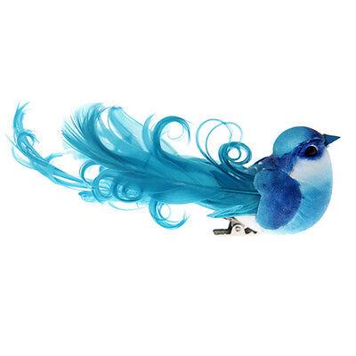 Türkis-hochzeit Dekorationen (2 Deko-Vögel mit Clip türkis Hochzeit Weihnachten Dekoration Vogel)