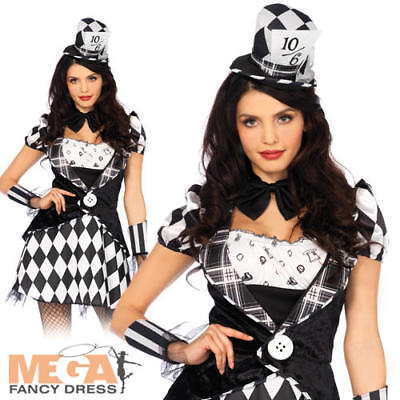 Dark Mad Hatter Ladies Fancy Dress Wonderland Leg Avenue Womens Adults Costume