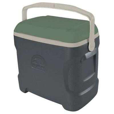 IGLOO SPORTSMAN 30 COMPACT 28 LITRE CONTOUR COOL BOX GREEN / GREY SPORTS CAMPING