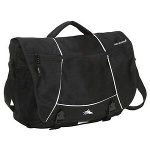 NEW High Sierra Tank Messenger Bag - Black  53650-1041