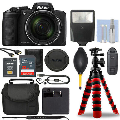 Nikon Coolpix B600 16MP Digital Camera Black + 32GB Deluxe Accessory Package