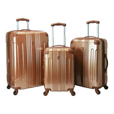 Travelers Club Unisex  Polaris 3-Piece Hardside Spinner Luggage Set