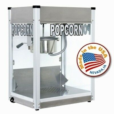 Commercial 6 oz Popcorn Machine Theater Popper Cart Paragon Pro PS-6