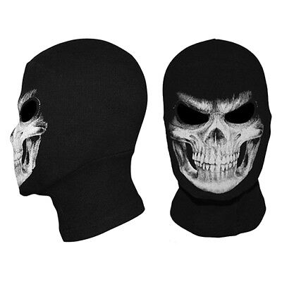 Skeleton Ghost Skull Face Mask Biker Balaclava Costume Halloween Cosplay US