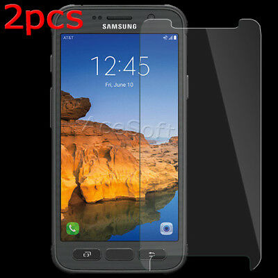 2x Samsung Galaxy S7 Active Clear Premium Tempered Glass Screen Protector Film