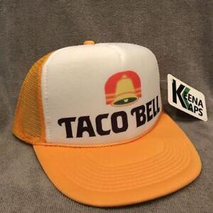 e0fb4b6949e Taco Bell Trucker Hat Restaurant Employee Vintage Style Mesh Snapback Cap  2264