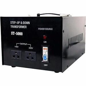 ST-5000 Step Up / Down Transformer 5000W Voltage Converter